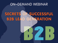 marketing webinar - secrets of successful B2B lead generation - email marketing